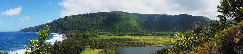 panorama waipio valley
