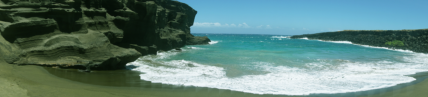Green Sand Beach Panorama