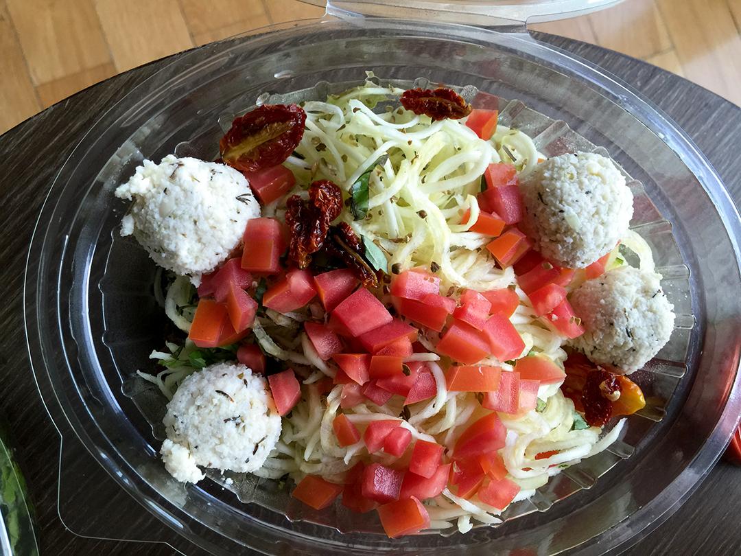Spaghetti  Meatballs pasta meat balls rasayana retreat thailand raw food