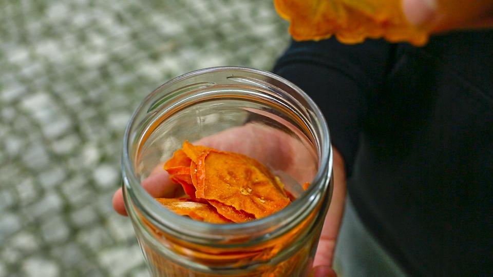 хурма сушенная чипсы
