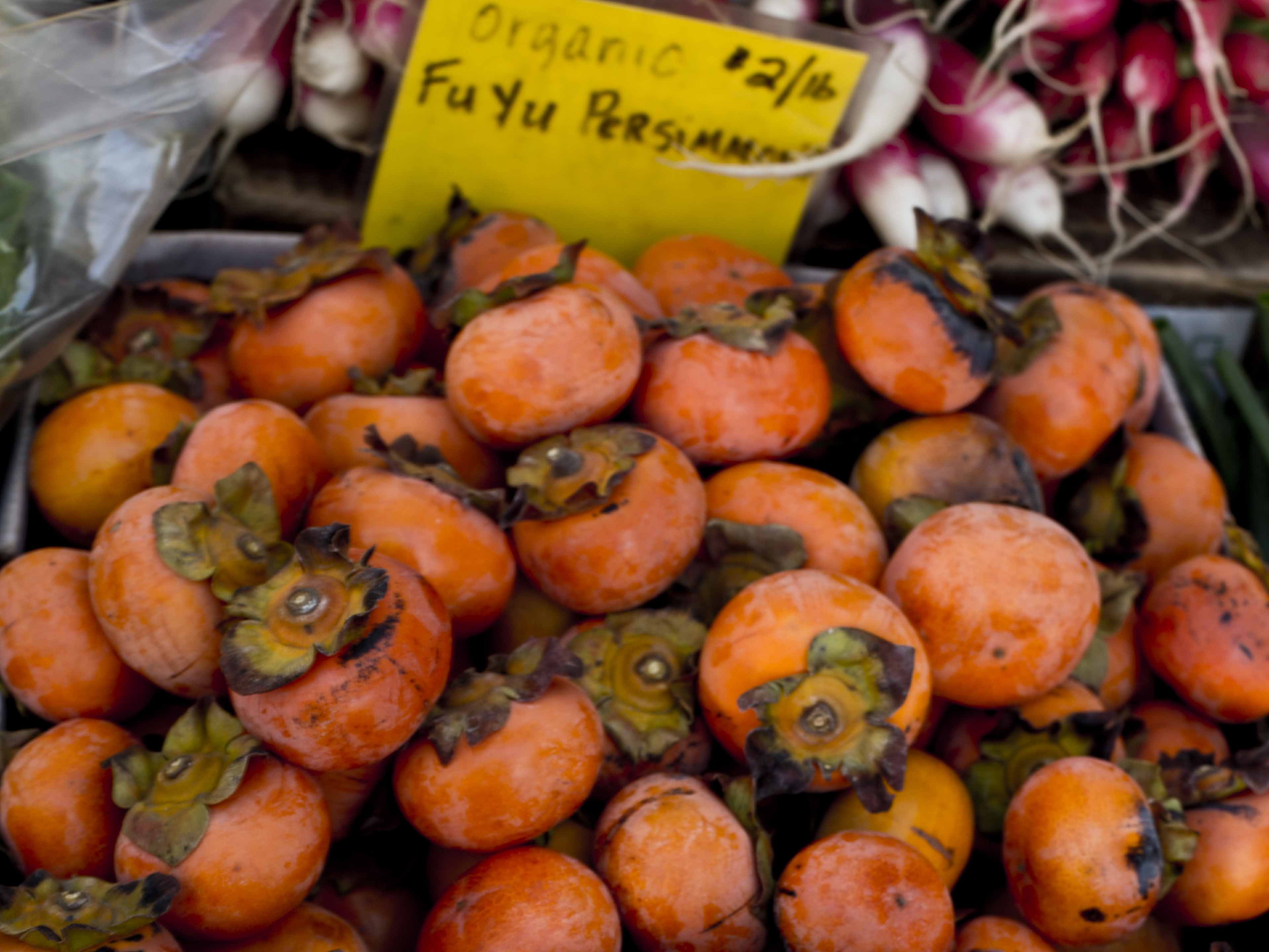 organic persimmons and recipes with persimmons