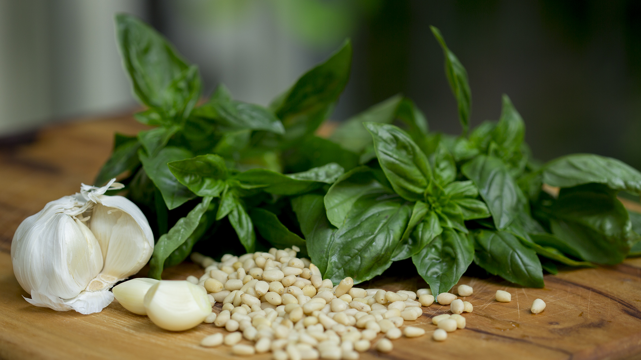 pesto basil pine nuts