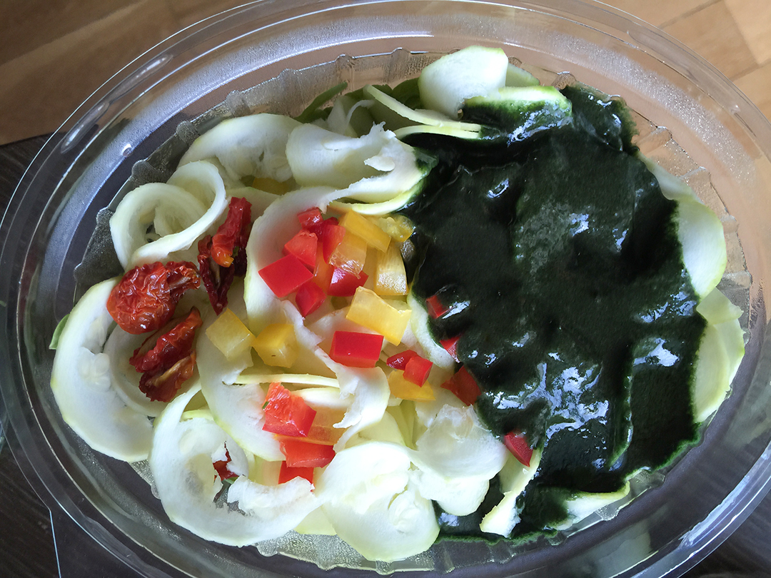 pesto noodles rasayana retreat thailand raw food