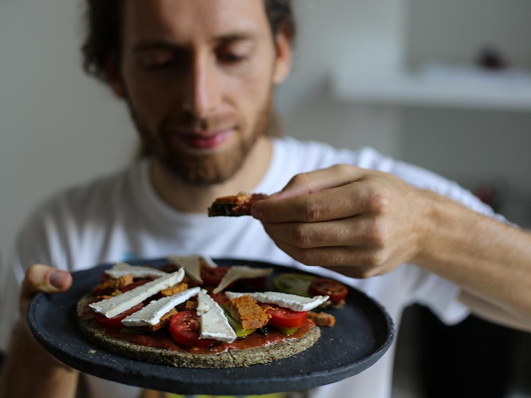 pizza happy cheese fruitadmin raw vegan