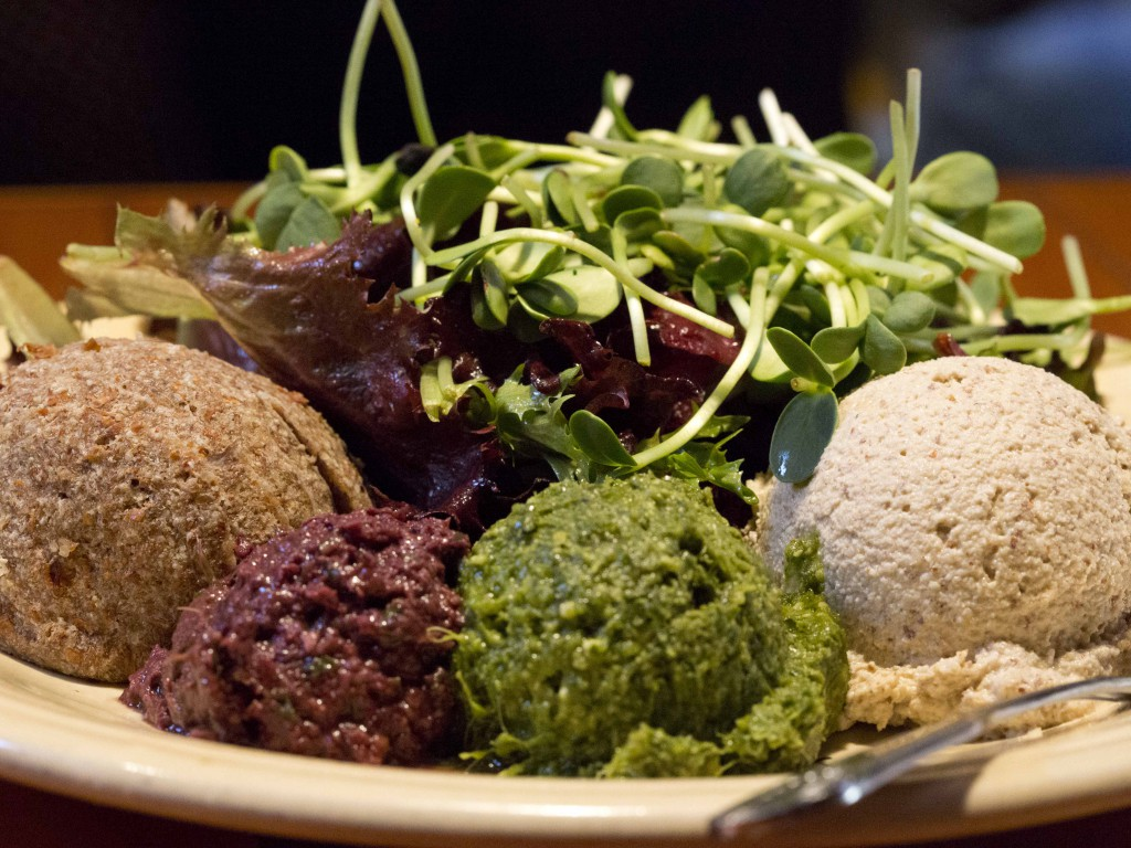 raw vegan mediterranean sampler plate - Cafe Gratitude Berkley
