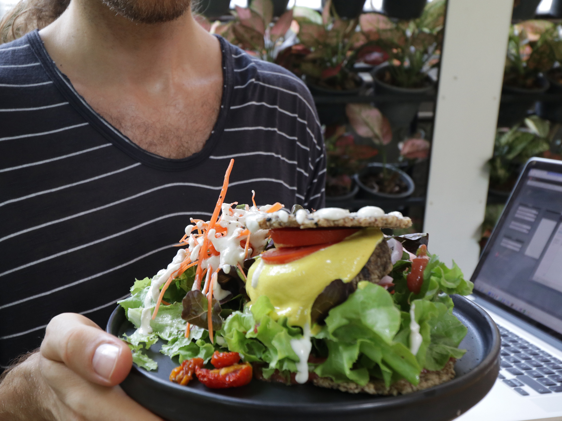 rasayana retreat raw food burger