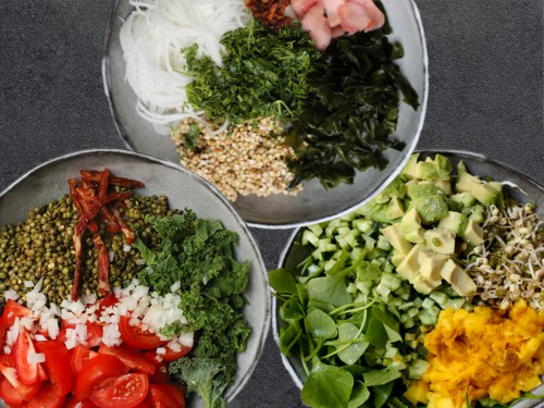 raw bowls winter recipe vegan