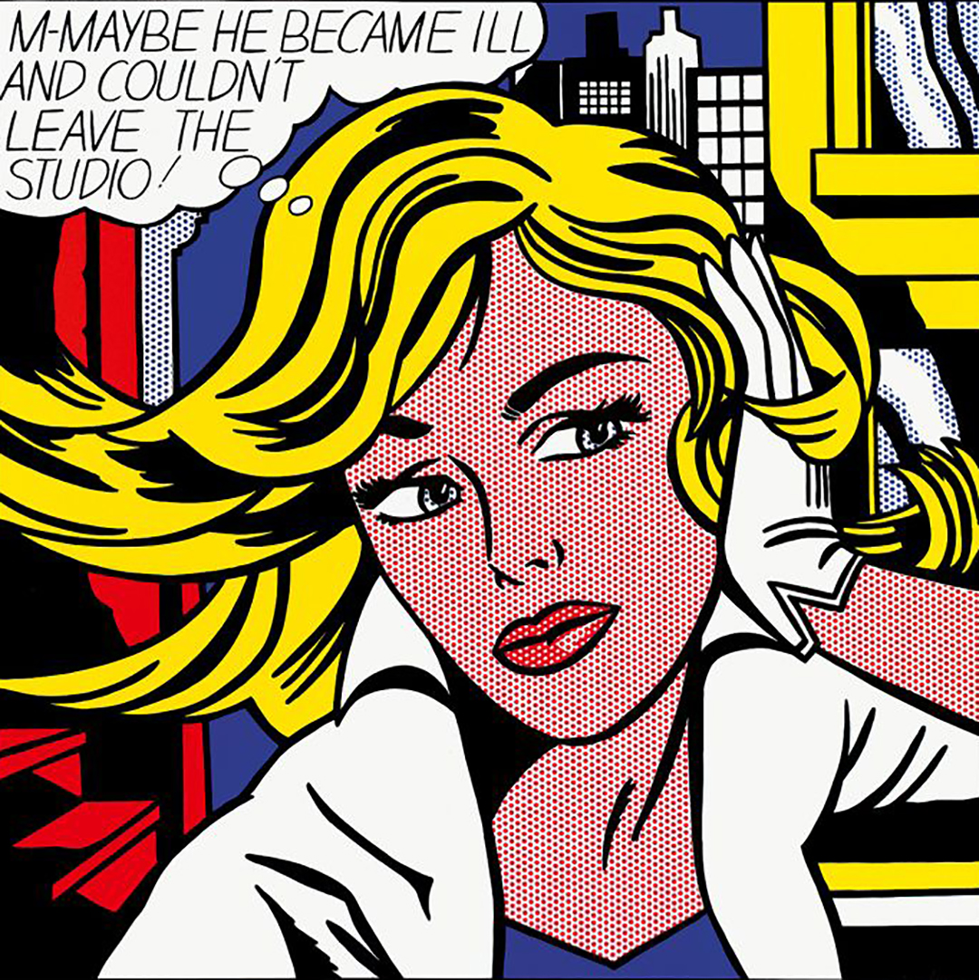 roy lichtenstein m-maybe he became ill and couldnt leave the studio copy