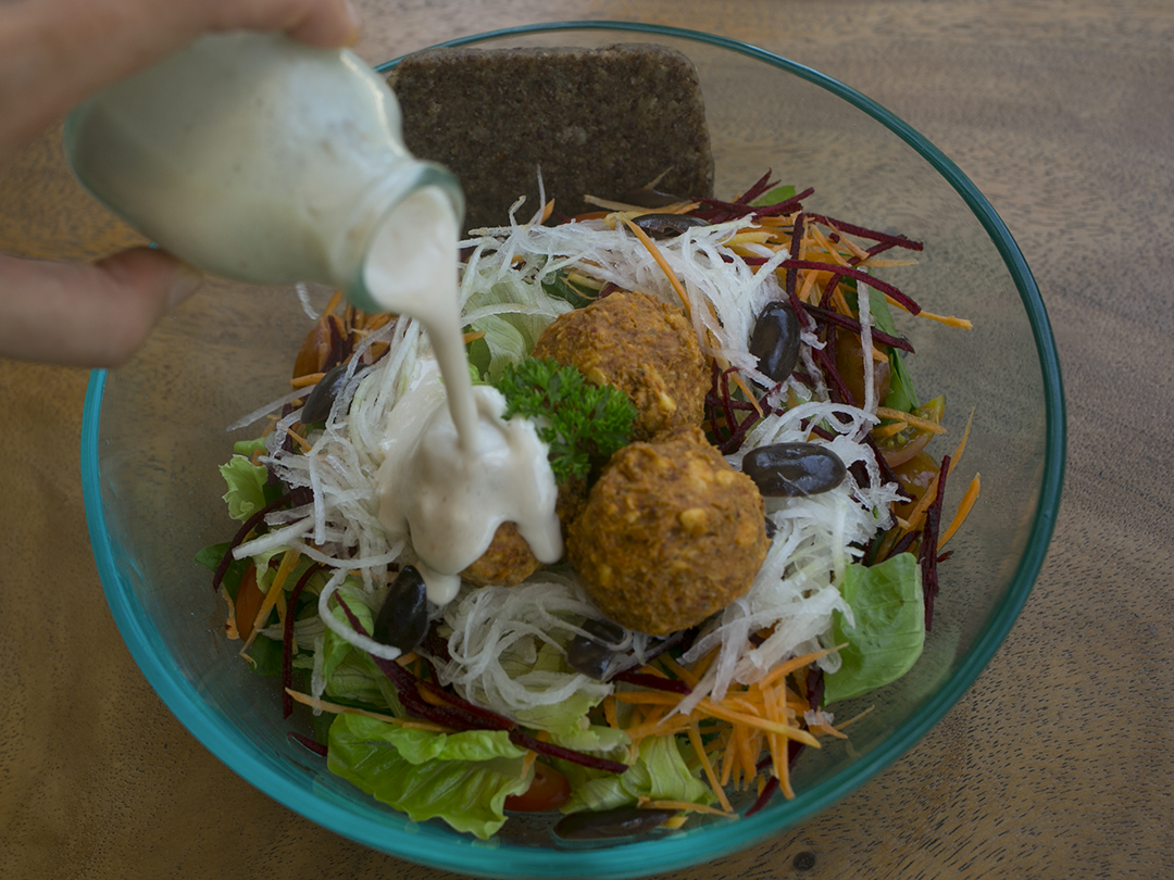 salad divine earth tempeh balls
