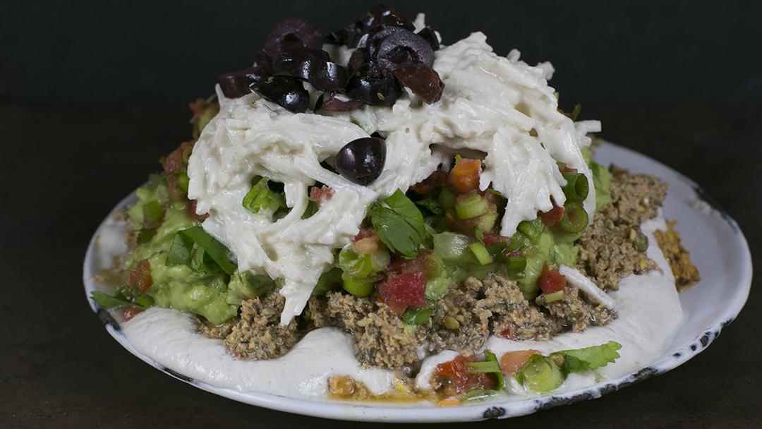 seven layer dip raw vegan