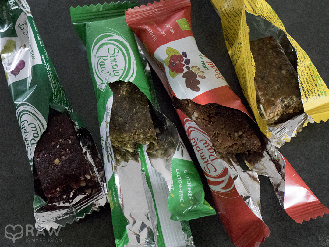 simply raw vegan bars snacks