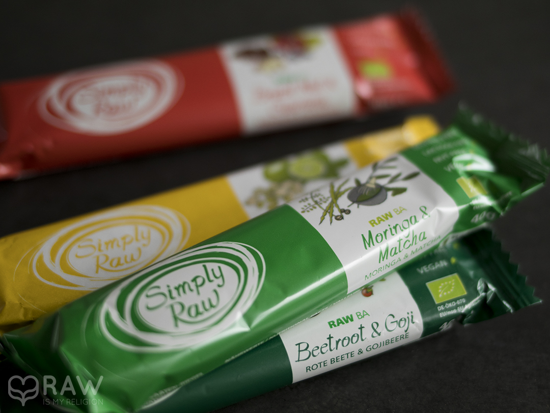 simply raw vegan bars
