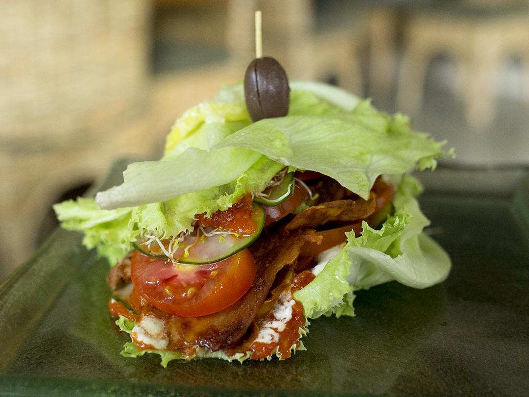 smoked coconut sandwich raw vegan organic divine earth seminyak bali