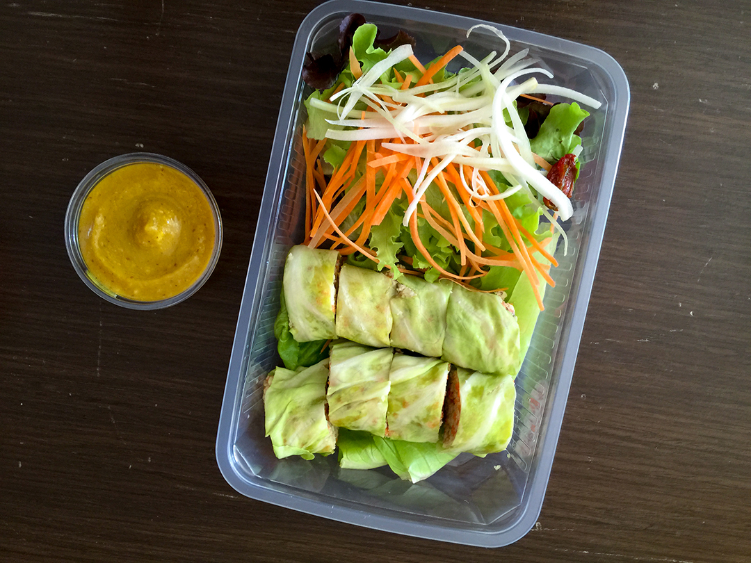 spring rolls rasayana retreat thailand raw food