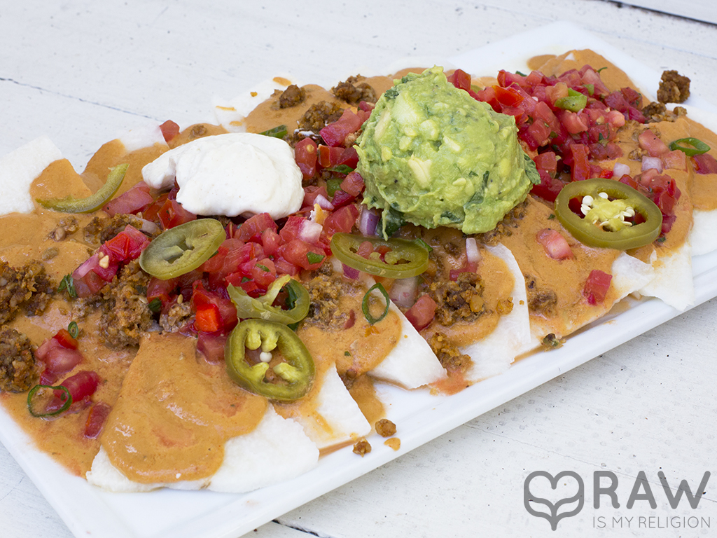 sun nachos raw vegan suncafe
