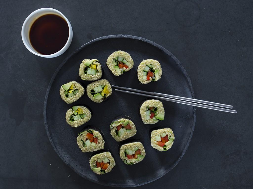 Rohkost Sushi Veganes Sushirezept