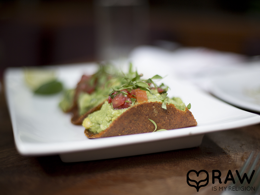 tachos plate guac pure food and wine nyc raw vegan