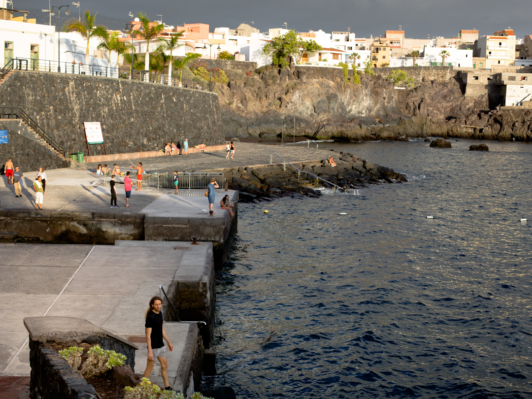 tenerife red sunset alcala walk village beach