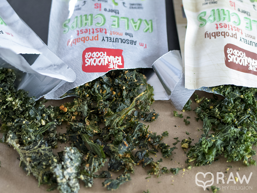 the rawlicious food kale chips raw vegan