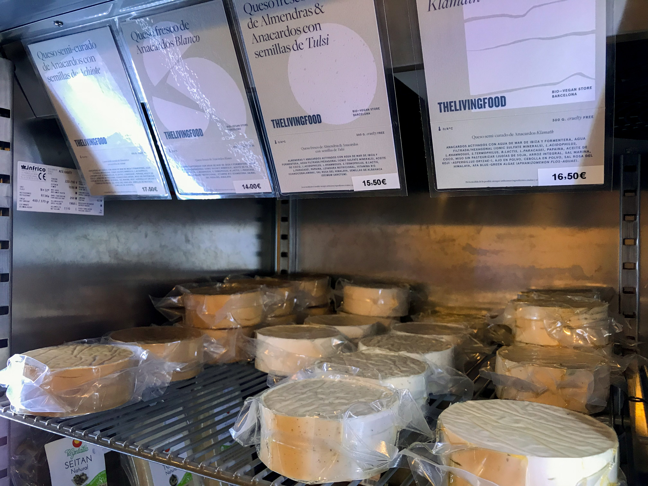 The Living Food Barcelona vegan cheese.