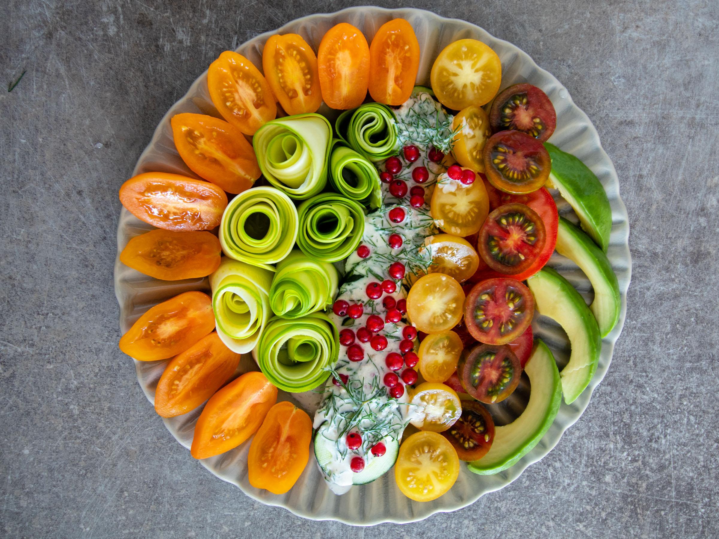 Tomato salad with Tahini dressing