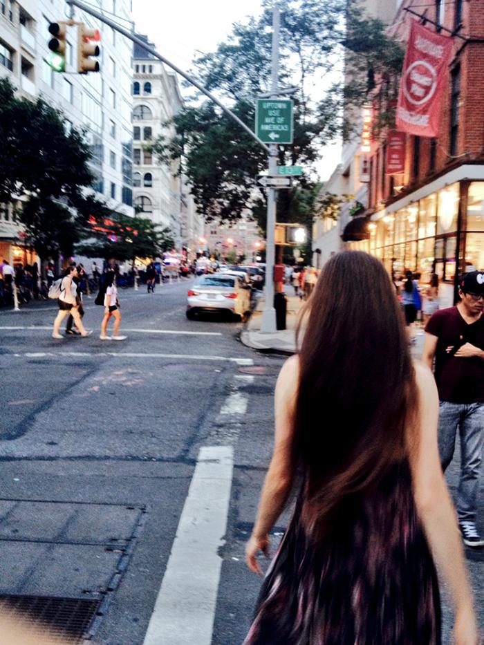 walking in nyc