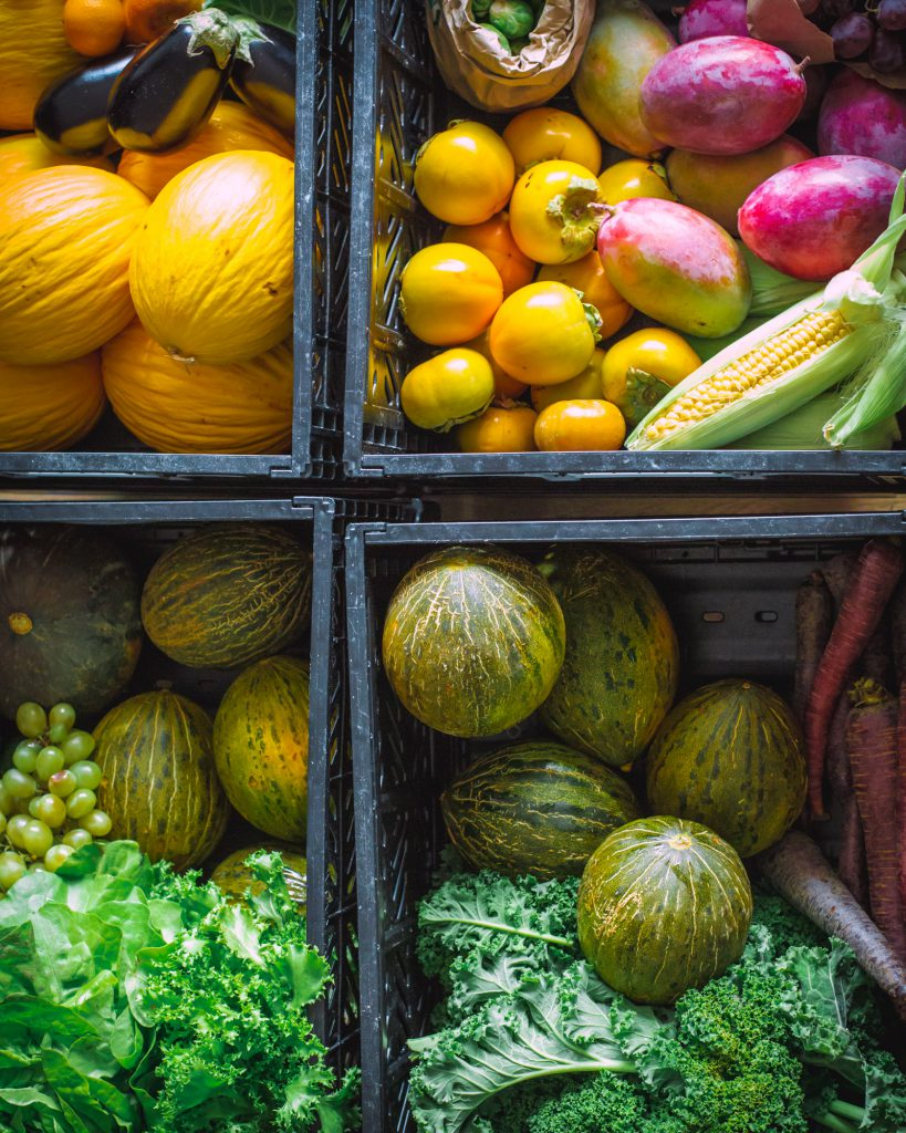 Fruits, vegetables and greens in October