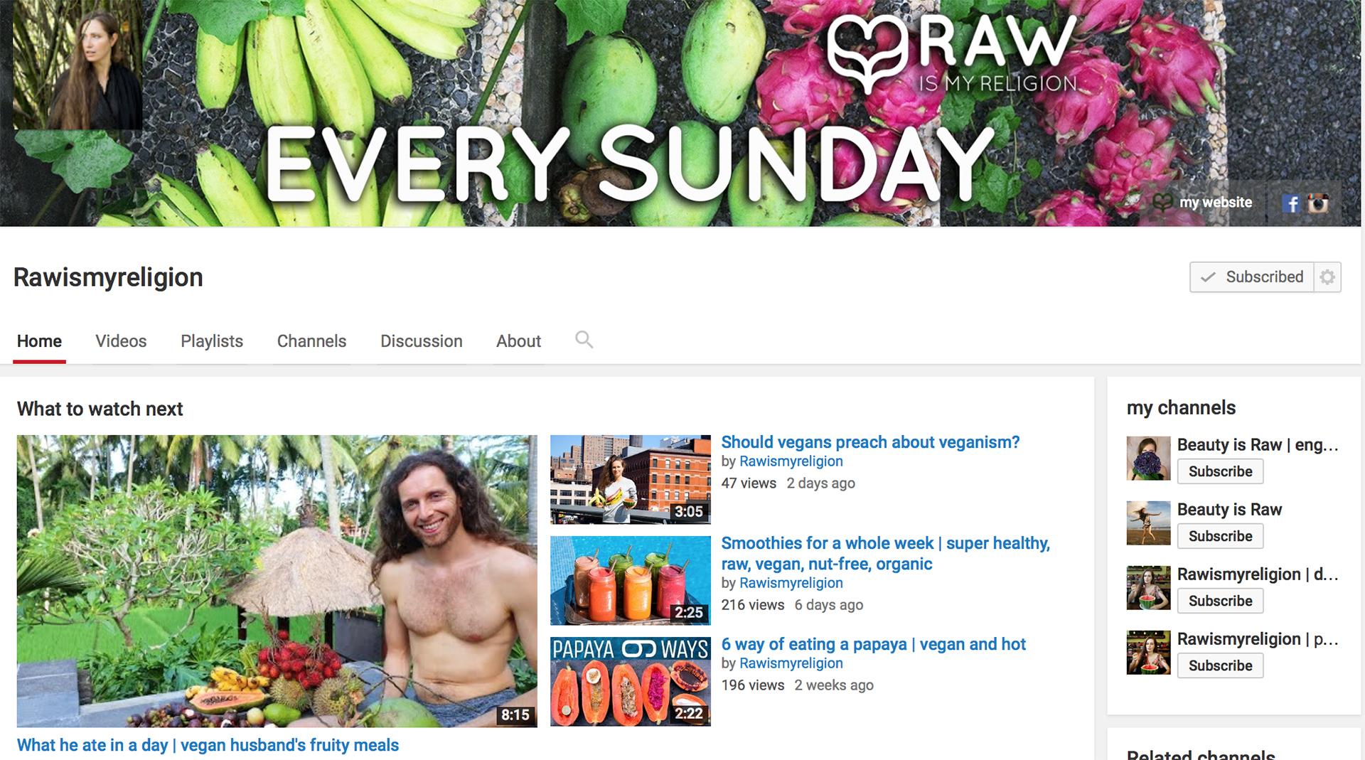 youtube rawismyreligion